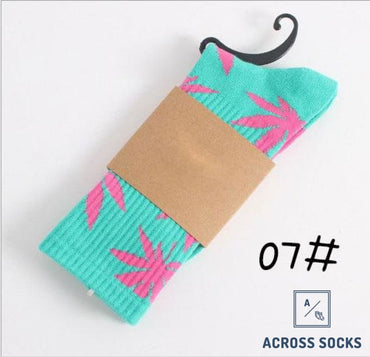 Maple Leaf Premium Cotton Socks Teal/pink / One Size Socks