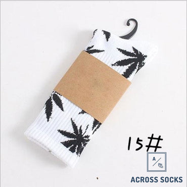Maple Leaf Premium Cotton Socks White/black / One Size Socks