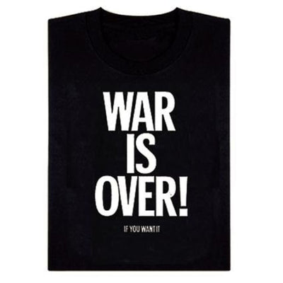 TシャツWAR IS OVER!黒L