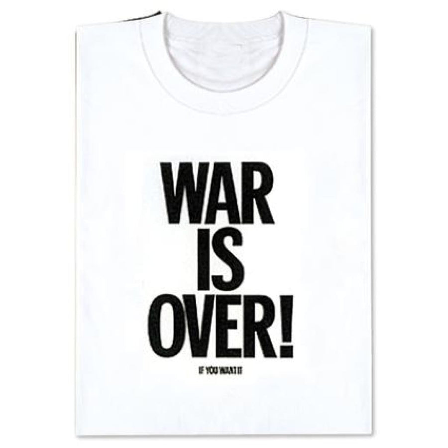 TシャツWAR IS OVER!白L
