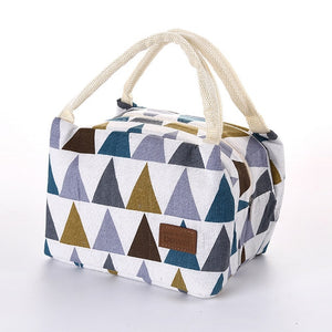 Striped Portable Lunch Bag