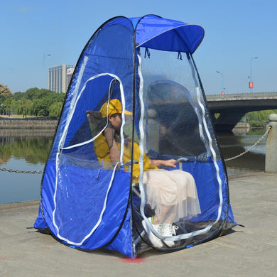 Single person outdoor pop up tent