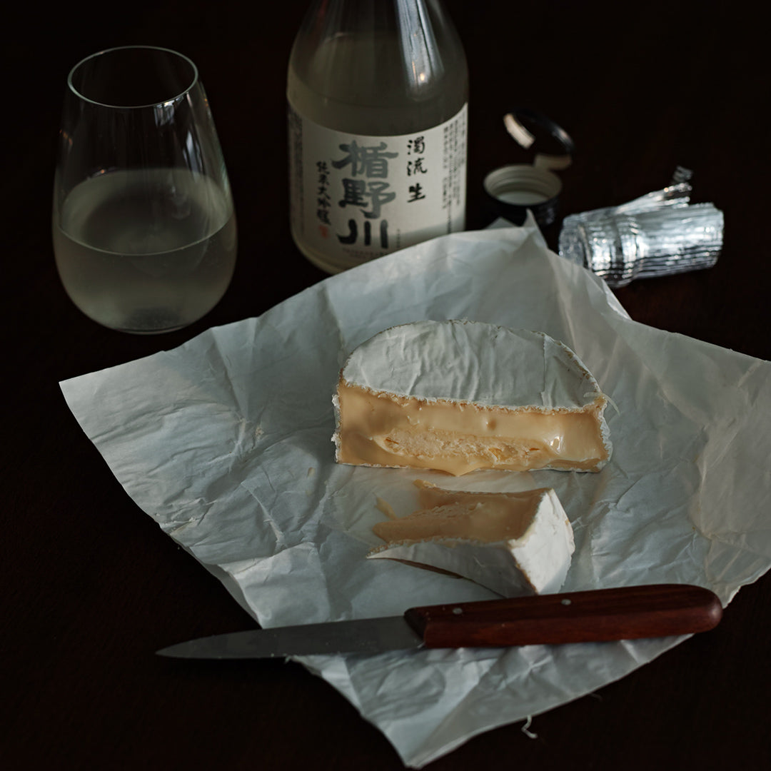 Fantastic pairing, Brie cheese and Nigori sake