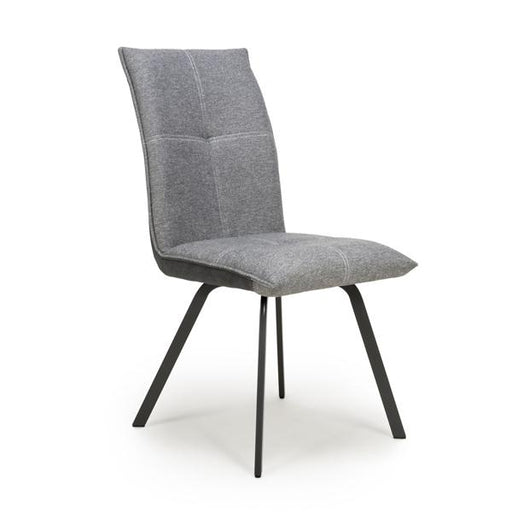 Shankar Ariel Linen Effect Light Grey Dining Chair (2pk)