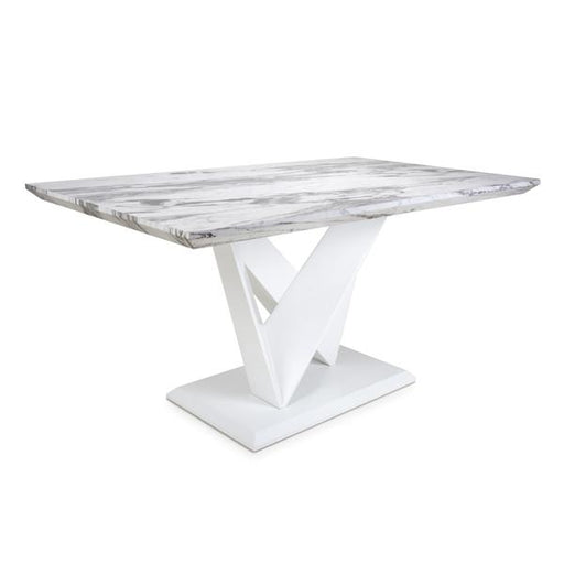 Shankar Saturn Medium Marble Effect Top Dining Table