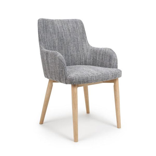 Shankar Sidcup Tweed Grey Dining Chair (2pk)
