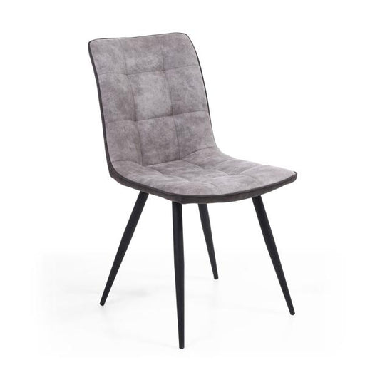 Shankar Rodeo Suede Effect Light Grey Dining Chair (2pk)