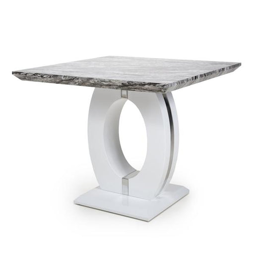 Shankar Neptune Square Marble Effect Top Dining Table