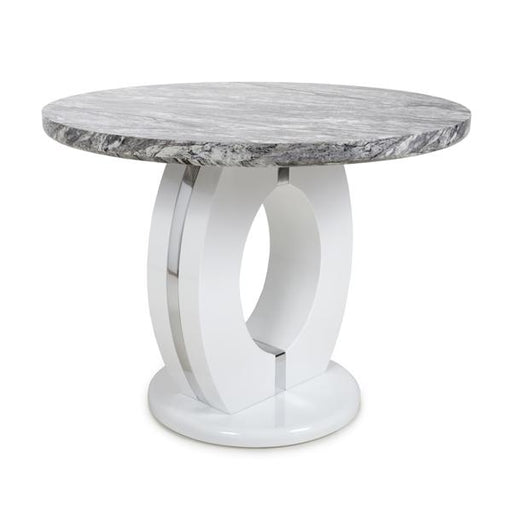 Shankar Neptune Round Marble Effect Top Dining Table