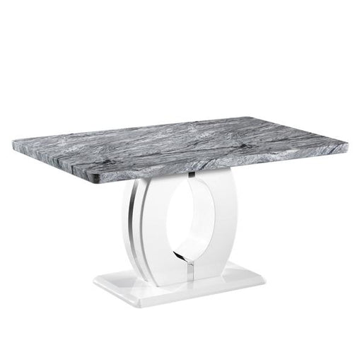 Shankar Neptune Medium Marble Effect Top Dining Table