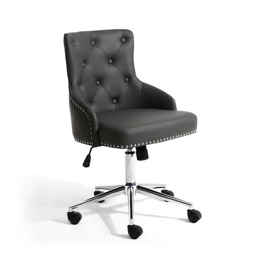 Shankar Rocco Leather Effect Graphite Grey Office Chair