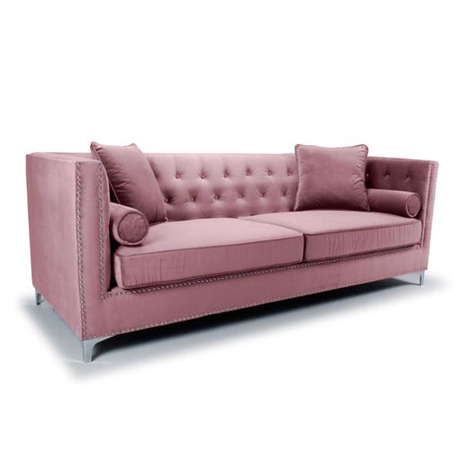 Shankar Dorchester 4 Seater Brushed Velvet Pink Blush Sofa