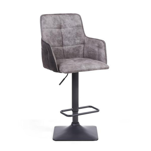 Shankar Orion Suede Effect Light Grey Bar Stool (2pk)
