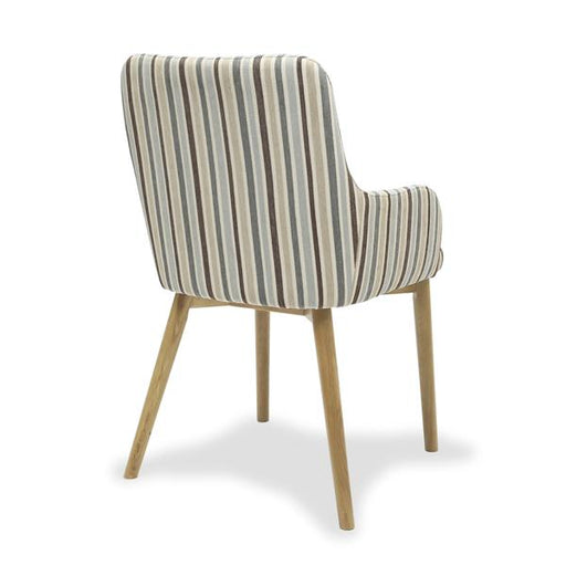 Shankar Sidcup Chenille Stripe Duck Egg Dining Chair (2pk)