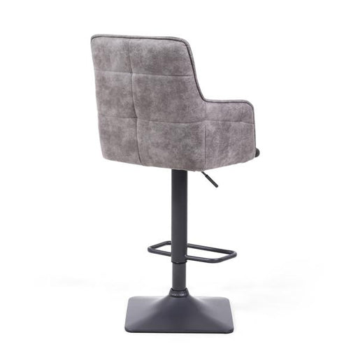Shankar Orion Suede Effect Dark Grey Bar Stool (2pk)