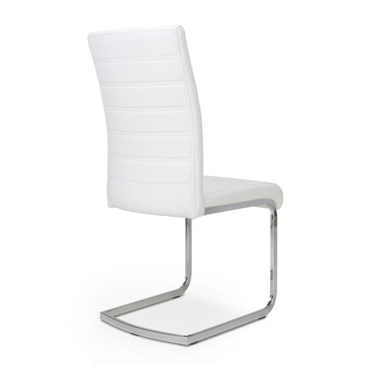 Shankar Callisto Leather Effect White Dining Chair (2pk)