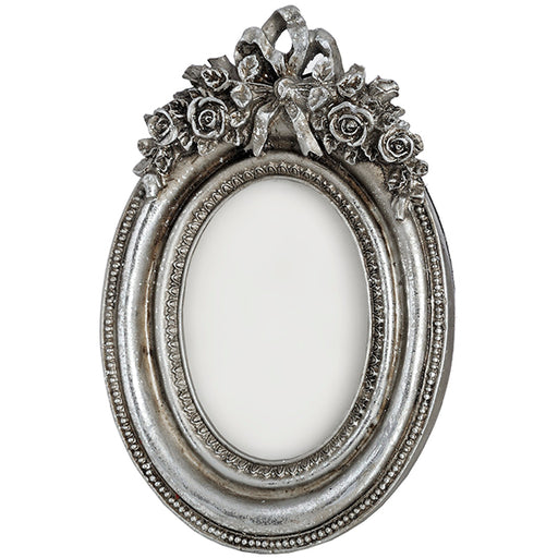 Hill Antique Silver Coloured Oval Photo Frame