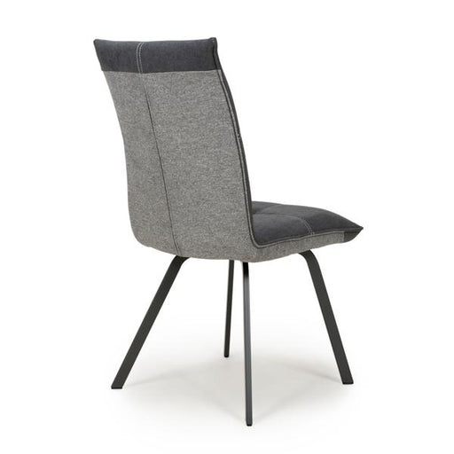 Shankar Ariel Linen Effect Dark Grey Dining Chair (2pk)