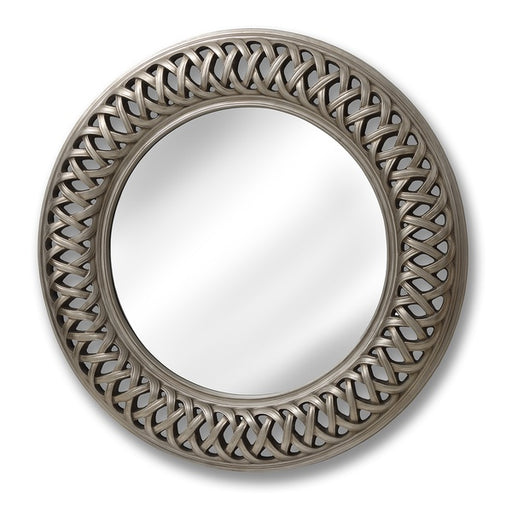 Hill Entwined Lattice Silver Mirror