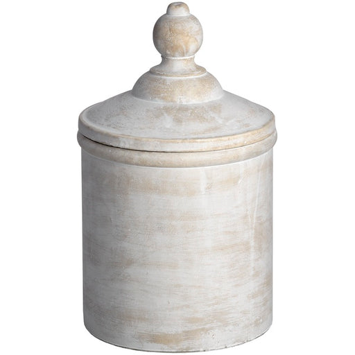 Hill Antique White Cannister