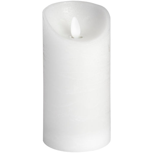 Hill 3 x 6 White Flickering Flame LED Wax Candle