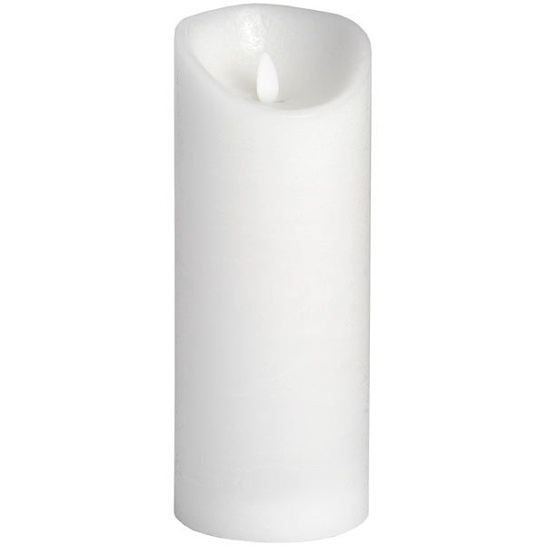 Hill 3.5 x 9 White Flickering Flame LED Wax Candle