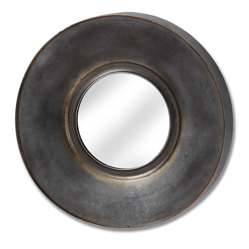 Hill Antique Bronze Round Mirror With Patina Effect