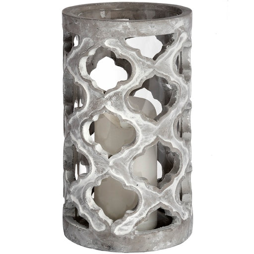 Hill Large Stone Effect Patterned Candle Holder