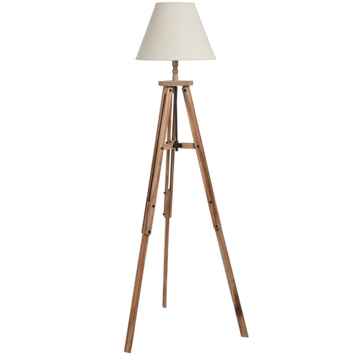 Hill Large Wooden Tripod Lamp
