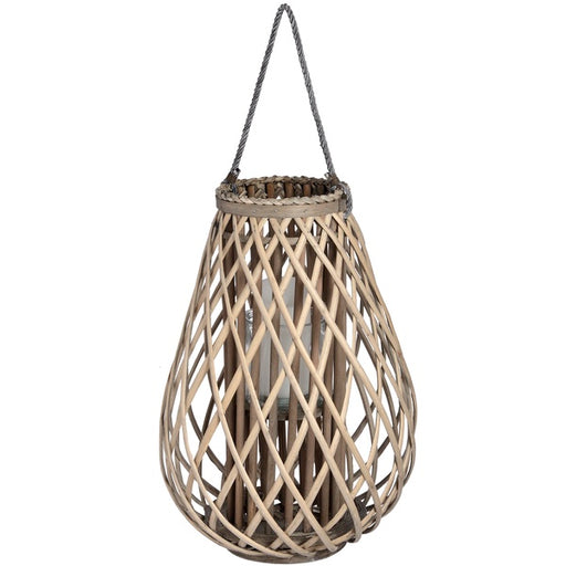 Hill Large Wicker Bulbous Lantern