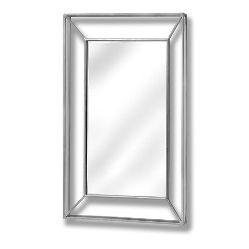 Hill Large Framed Design Pronounced Silver Mirror