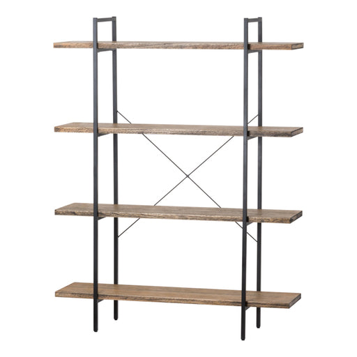 Hill Four Tier Shelf Cross Section Industrial Display Unit