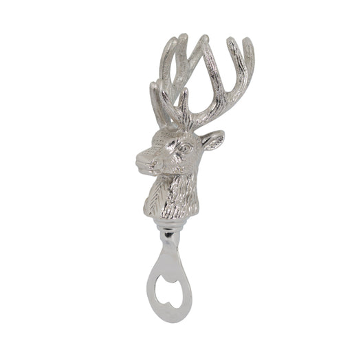 Hill Nickel Stag Head Bottle Opener