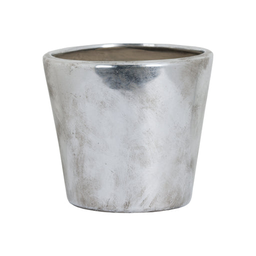 Hill Medium Metallic Ceramic Planter