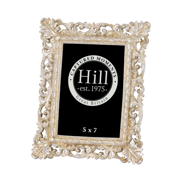Antique Champagne Ornate Cut Out Photo Frame 5X7