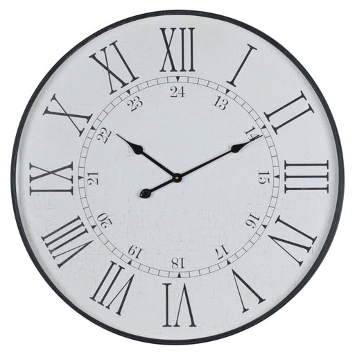 Hill Large Embossed Station Clock