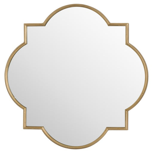 Hill Antique Bronze Quarterfoil Mirror
