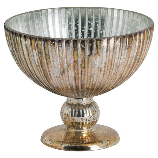 Hill Glass Bowl In Antique Bronze Finish
