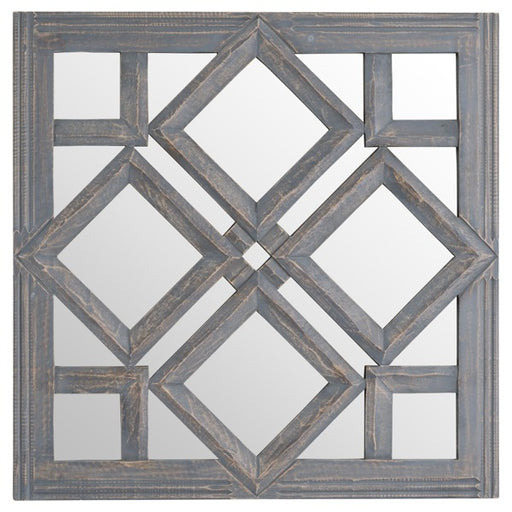 Hill Geometric Diamond Cut Out Wall Mirror