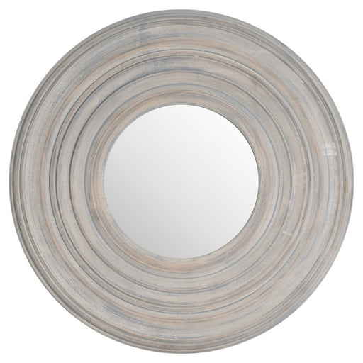 Hill Grey Painted Round Textured Mirror