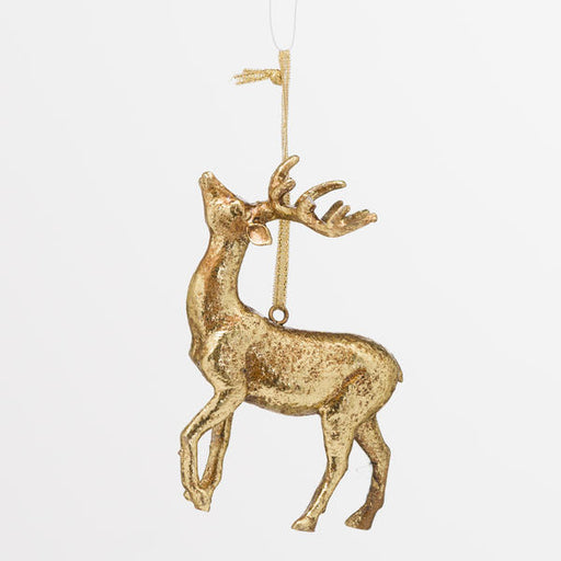 Hill Interiors Hanging Gold Stag Ornament