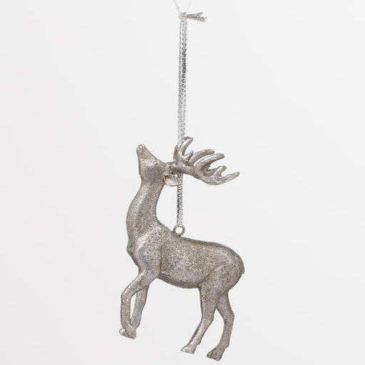 Hill Interiors Hanging Silver Stag Decoration