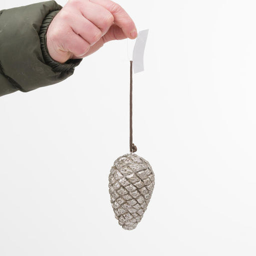 Hill Interiors Hanging Silver Pinecone