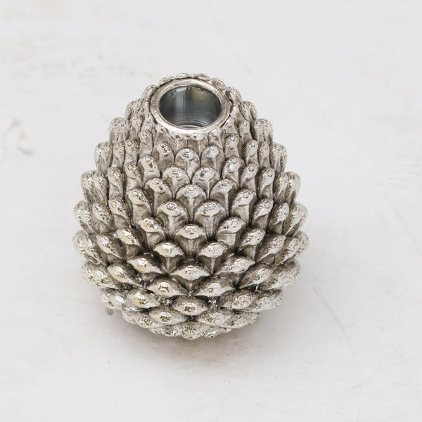 Hill Interiors Medium Silver Pinecone Candle Holder