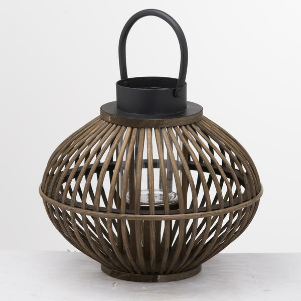 Hill Interiors Brown Bamboo Style Lantern