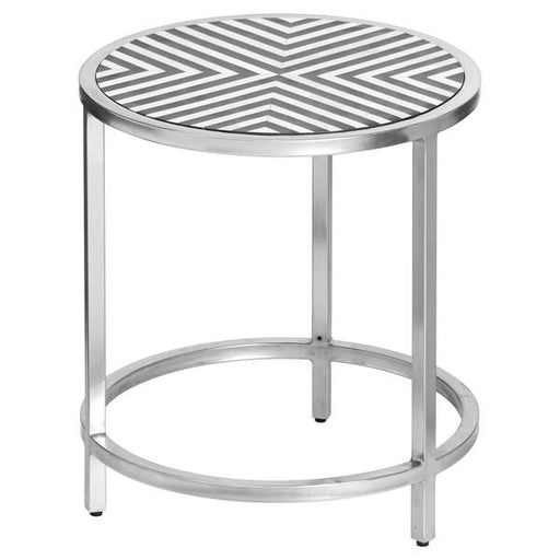 Hill Interiors Handmade Bone Inlay Round Side Table