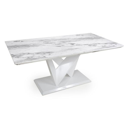 Shankar Saturn Large Marble Effect Top Dining Table