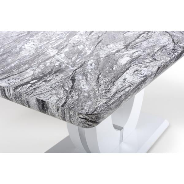 Shankar Neptune Large Marble Effect Top Dining Table