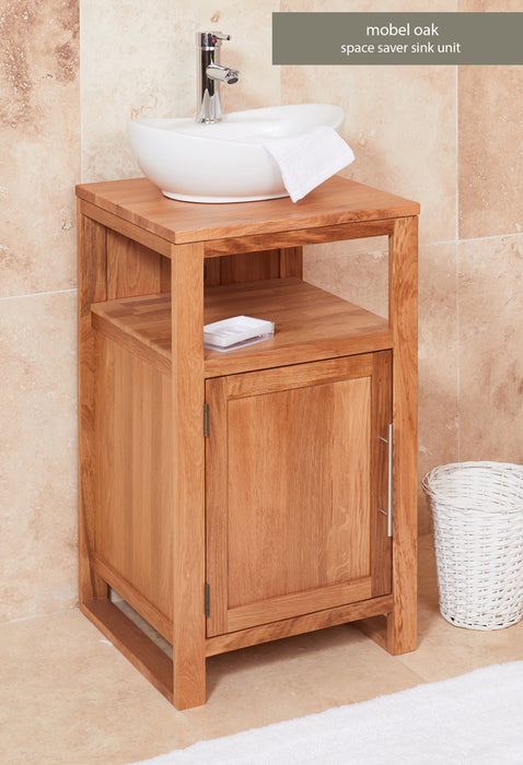 Baumhaus Solid Oak Single Door Sink Unit (Round)