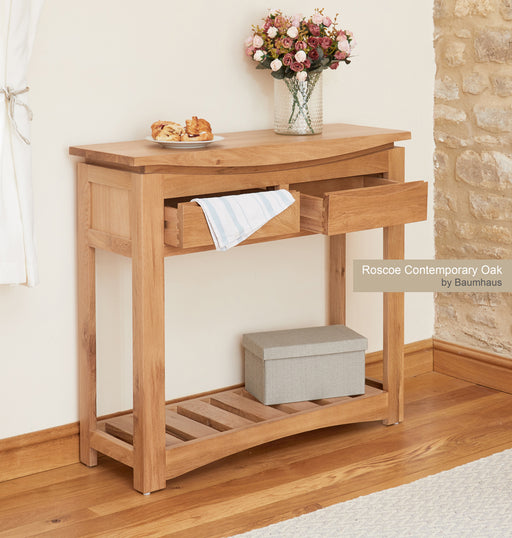 Baumhaus (CRESHT) Roscoe Contemporary Oak Console Table